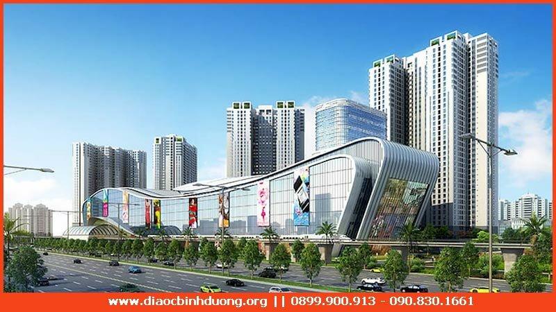 Trung tâm thương mại thuộc Khu đô thị Phúc Đạt