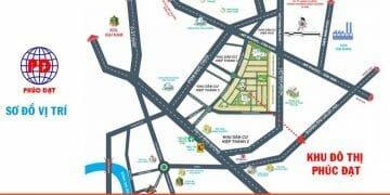 Vị trí dự án khu đô thị Phúc Đạt