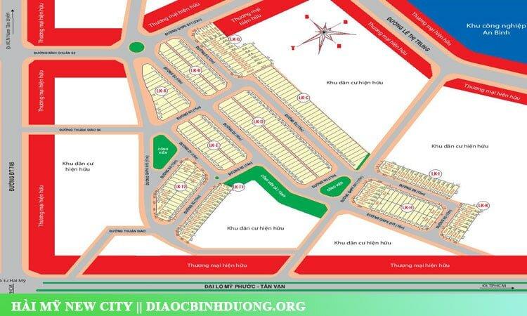 Sơ đồ phân lô dự án Hài Mỹ New City