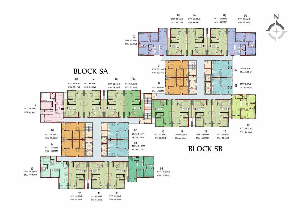 Mặt bằng dự án căn hộ Charm City Dĩ An