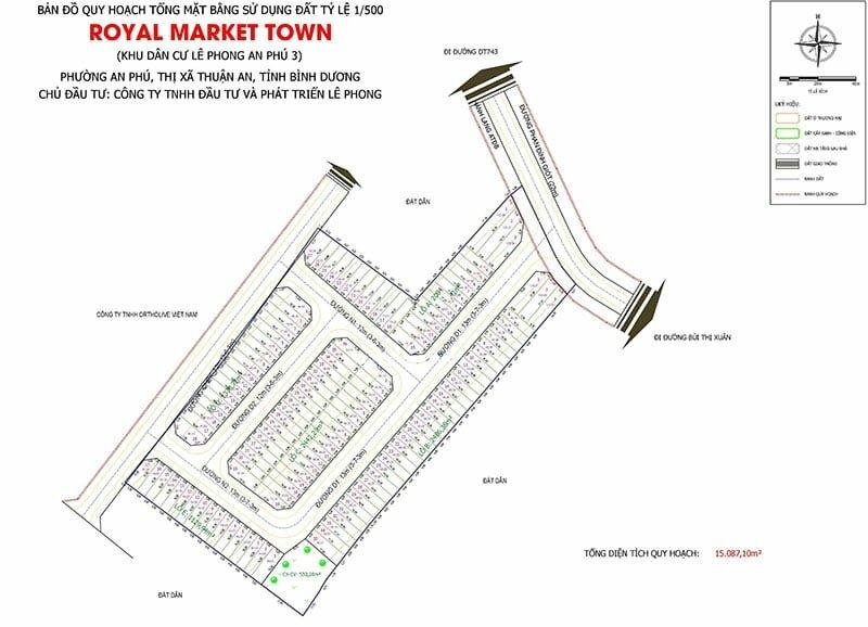 Sơ đồ phân lô Dự án Royal Market Town Thuận An