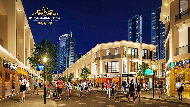 Thiết kế Dự án Royal Market Town Thuận An