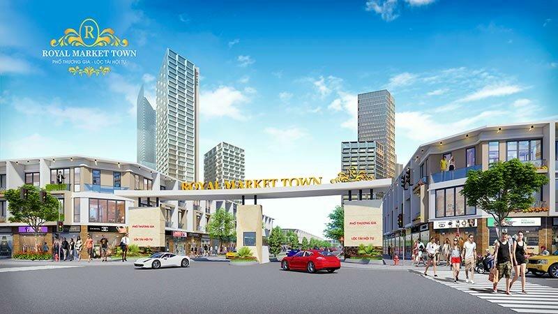 Phối cảnh Dự án Royal Market Town Thuận An