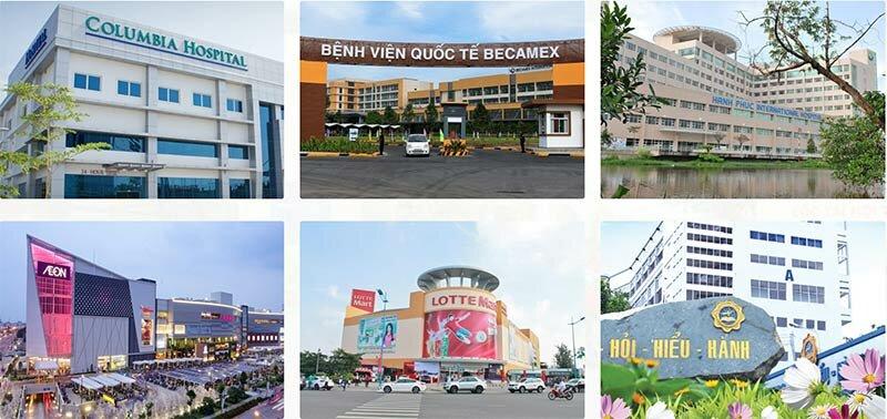 Tiện ích ngoại khu dự án royal market town