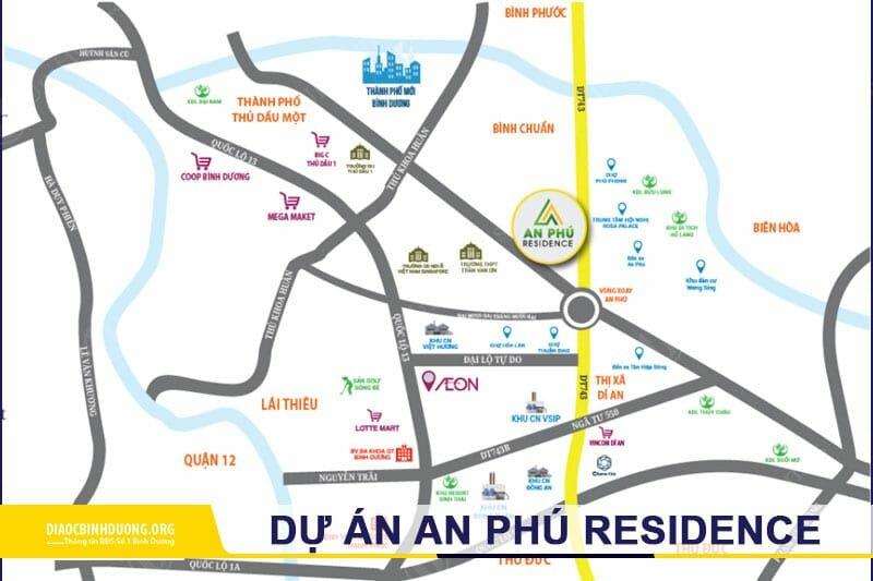 Vị trí dự án nhà phố An Phú Residence