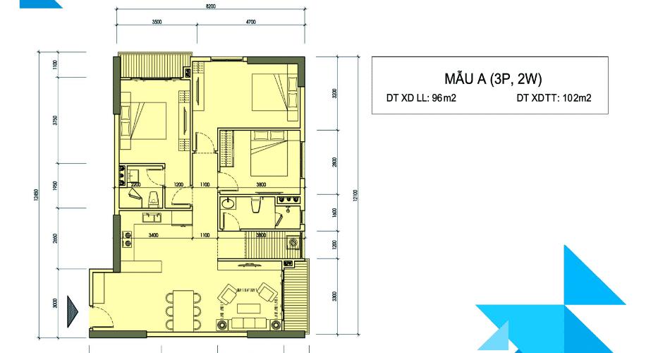 Mặt bằng thiết kế các mẫu căn hộ - Căn A