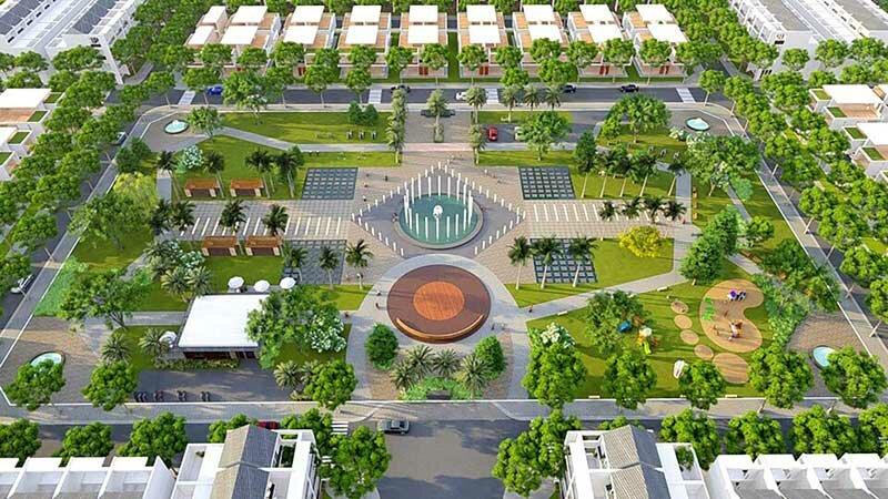 Công viên trung tâm dự án Qi Island