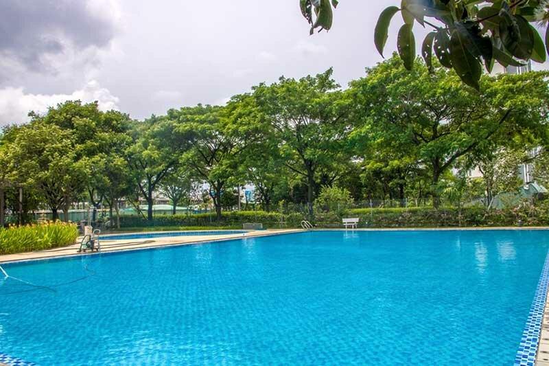 Hồ bơi hiện hữu trong khu dân cư Ecoxuan