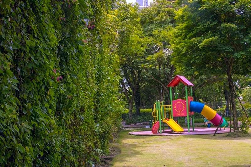 Khu vui chơi trẻ em hiện hữu trong khu dân cư Ecoxuan