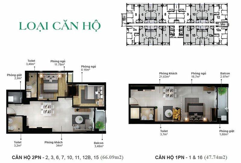 Thiết kế căn hộ EcoXuân Sky Residences - 1 phòng ngủ