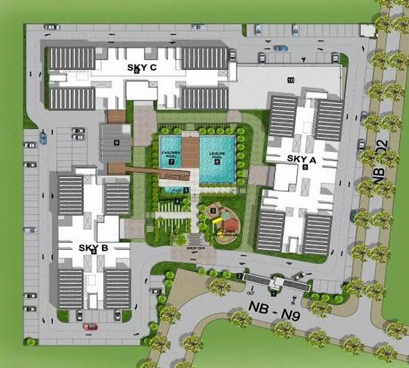 Mặt bằng tổng khu căn hộ EcoXuân Sky Residences
