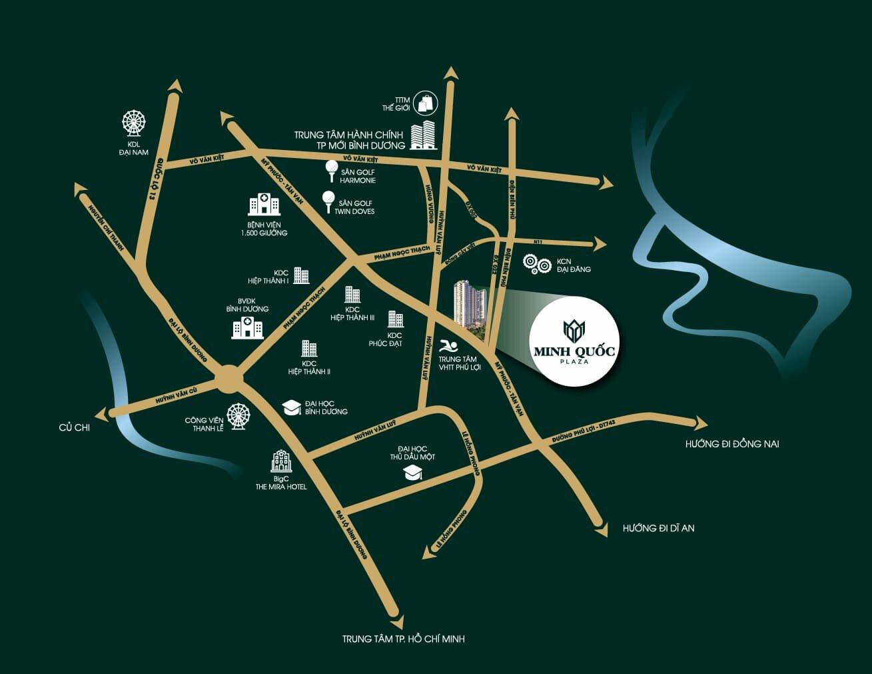 VỊ trí căn hộ Minh Quốc Plaza