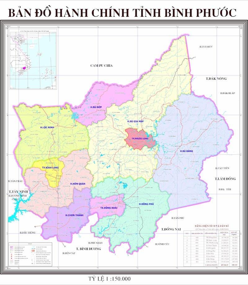Địa giới hành chính tỉnh Bình Phước