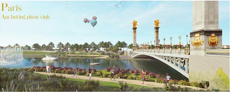 Phối cảnh khu Paris của Royal Star Lake