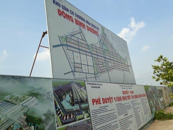 Khu đô thị Đông Bình Dương được phép chuyển mục đích sử dụng đất