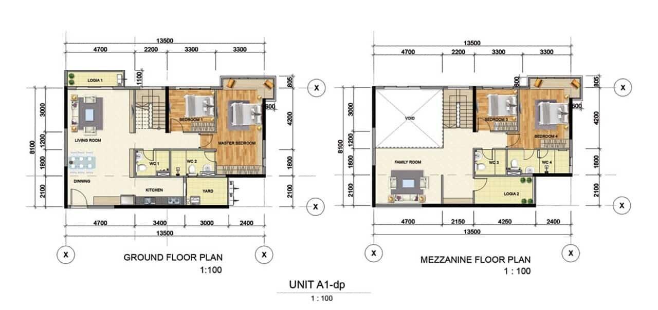 Thiết kế căn hộ mẫu A1 Bình Dương Grand View