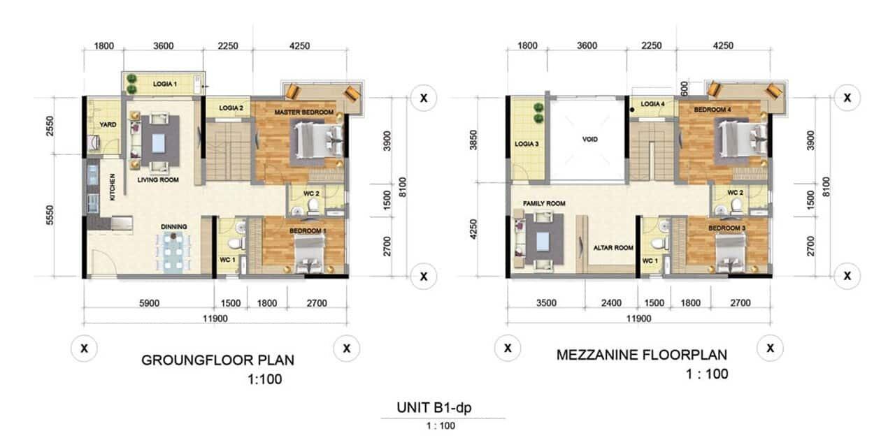 Thiết kế căn hộ mẫu B1 Bình Dương Grand View