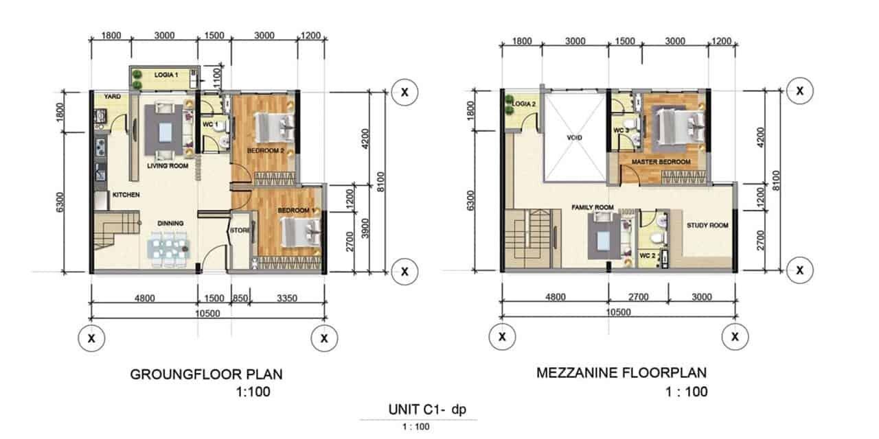 Thiết kế căn hộ mẫu C1 Bình Dương Grand View