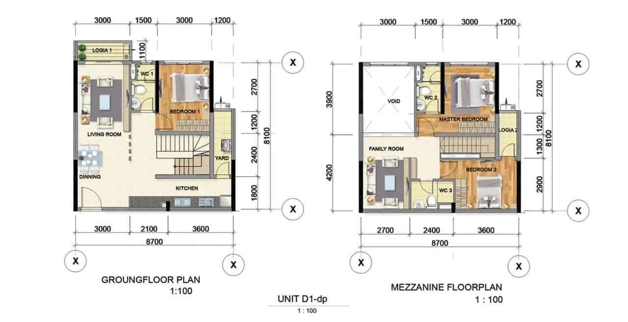 Thiết kế căn hộ mẫu D1 Bình Dương Grand View