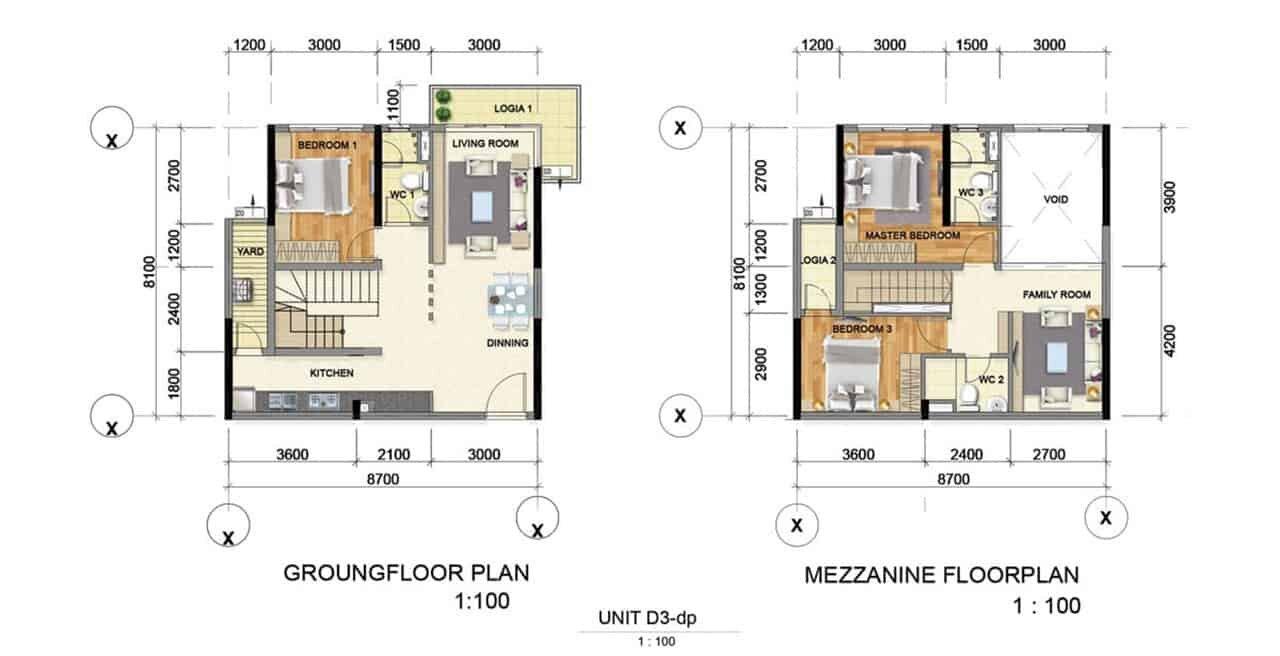 Thiết kế căn hộ mẫu D3 Bình Dương Grand View