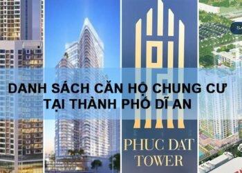 Danh sách dự án căn hộ chung cư tại thành phố Dĩ An