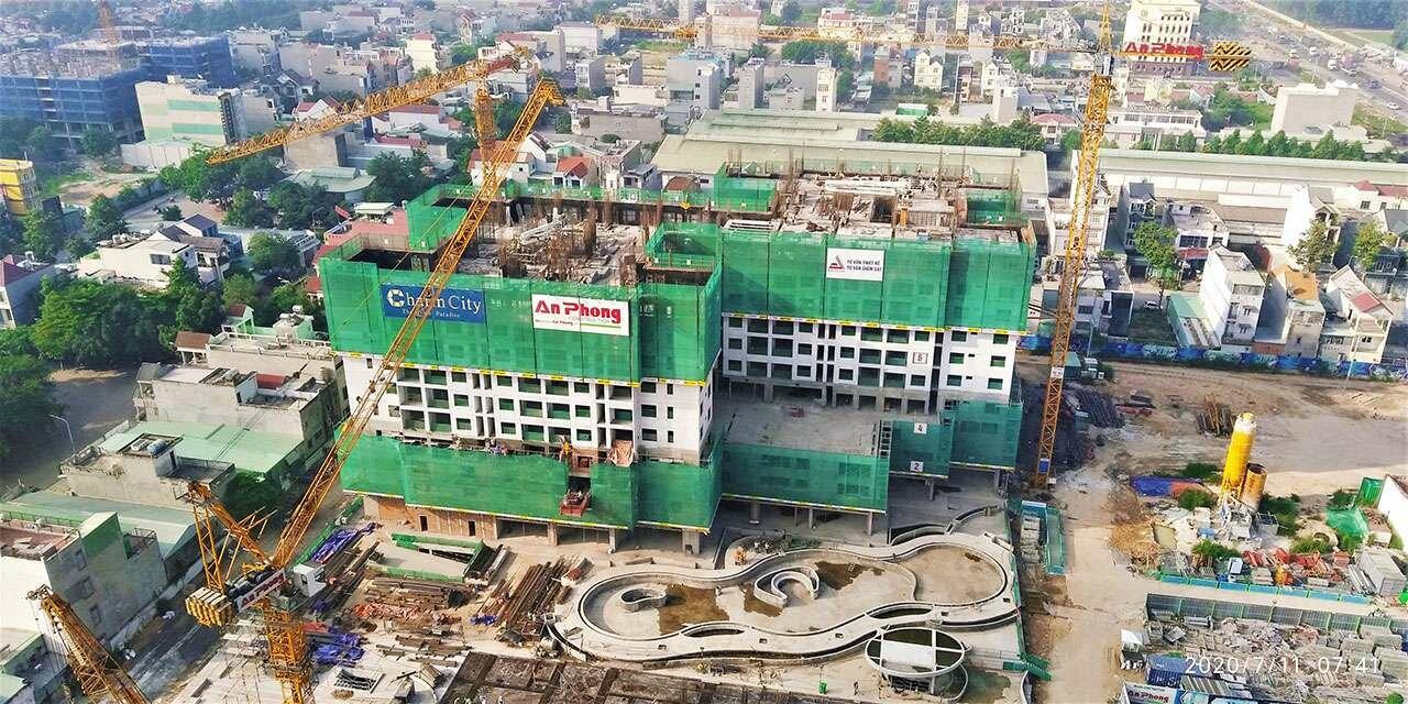 Cập nhật tiến độ thi công dự án Charm City ngày 11/07/2020