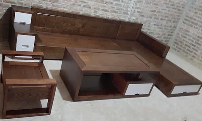 Mẫu sofa gỗ chữ L đẹp - pic 4