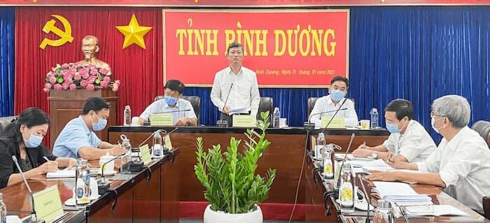 Ông Võ Văn Minh chỉ đạo cuộc họp