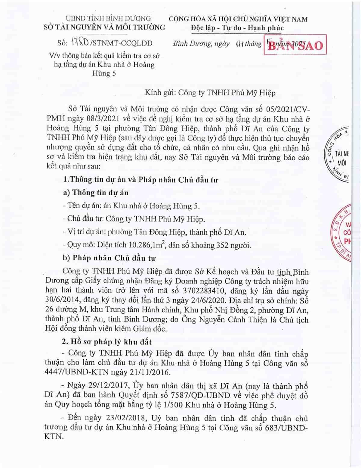 Quyết định 1780 Khu nhà ở Hoàng Hùng 5 - ảnh 1