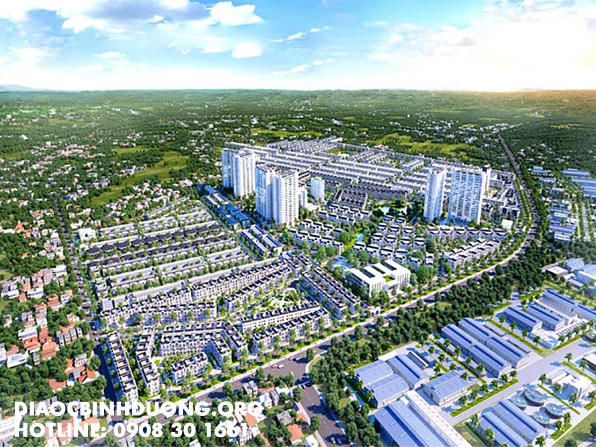 Phối cảnh khu đô thị Đại Phước Molita Bàu Bàng
