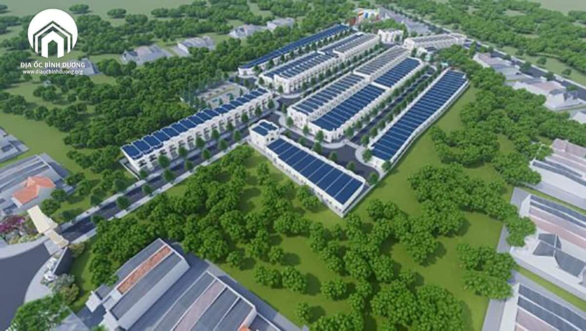 Tổng thể khu đô thị Huỳnh Tiến Phát thị xã Bến Cát